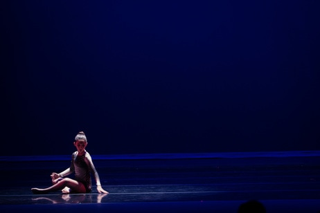 Young Contemporary Dancer in Performance